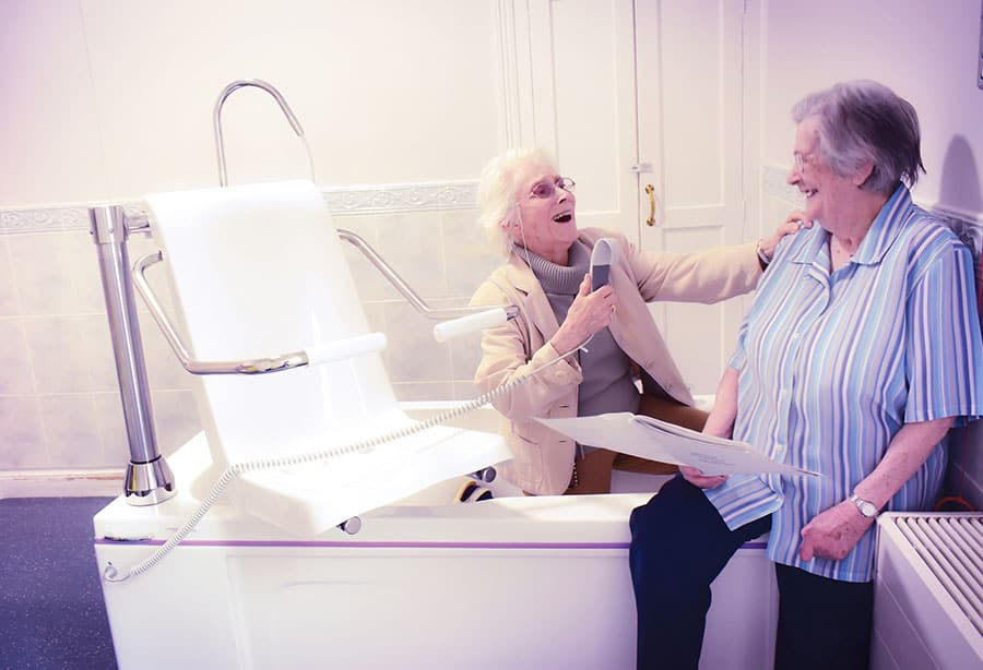 Gainsborough Specialist Bathrooms donate power-assisted baths to the Headingley Hall care home image