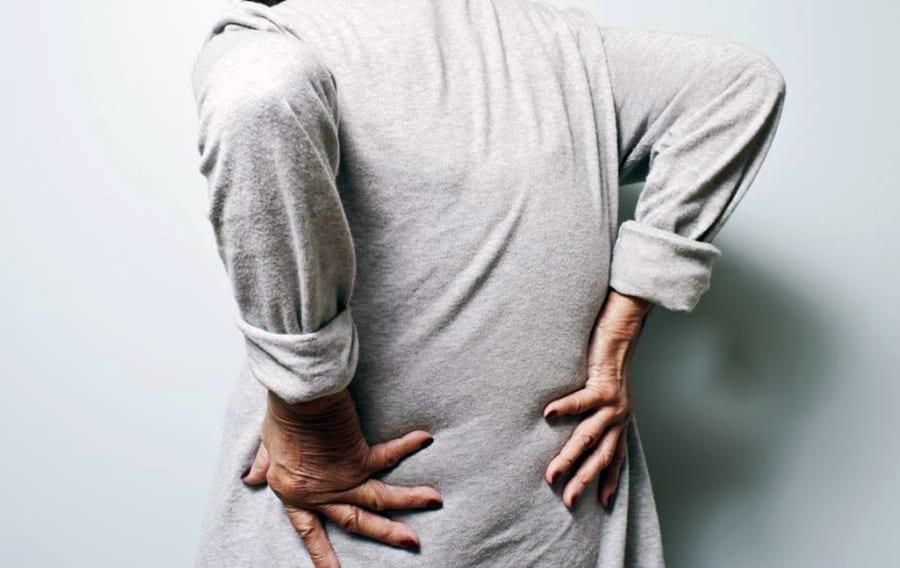Elderly woman bone joint pain
