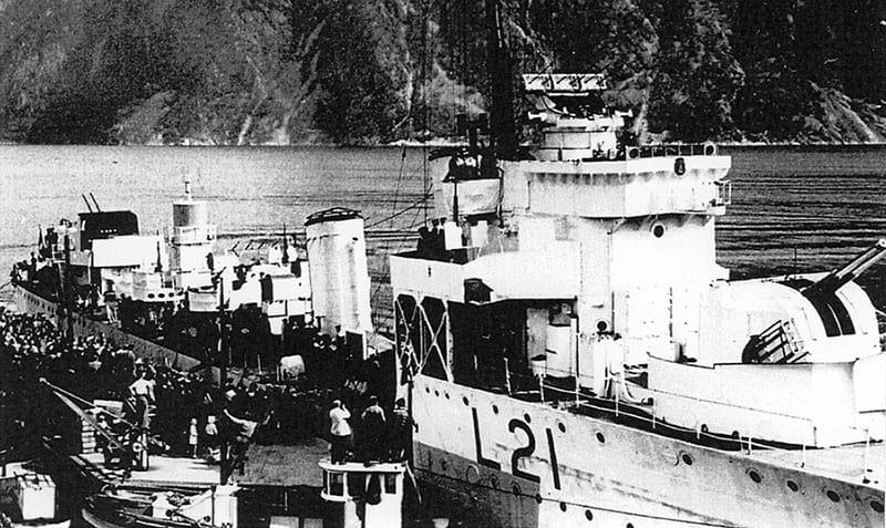 HMS Viceroy in Norway in 1945