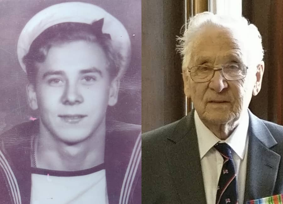 Kenneth Foster in 1945 and 2017