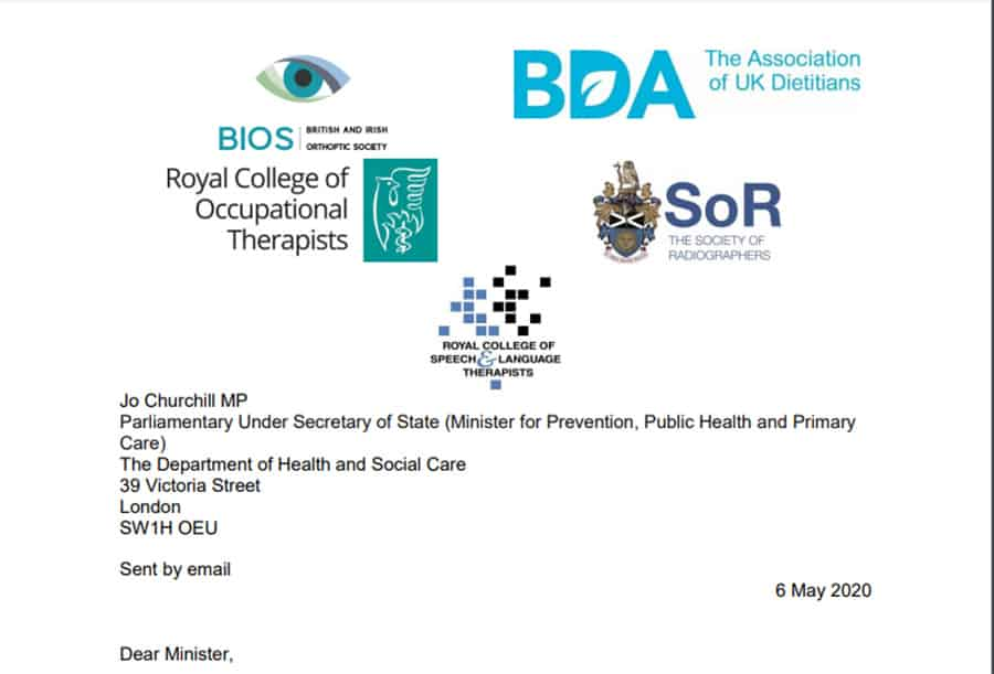 RCOT prescribing rights open letter image