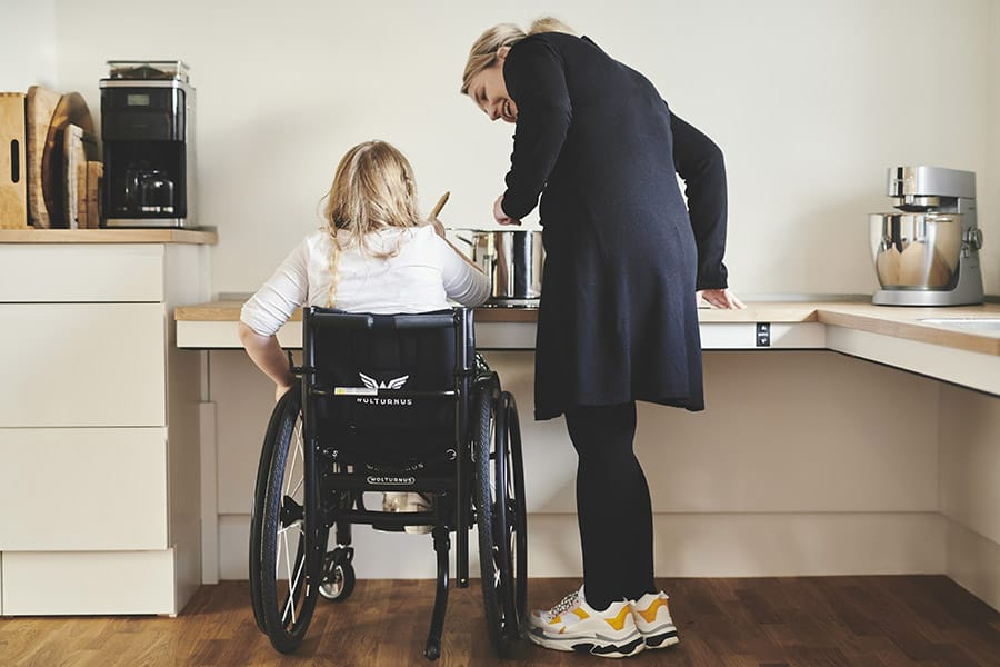 Case Study Bespoke Accessible Kitchen Helps Young Girl Prepare Meals With Family And Friends At Today Assistive Technology
