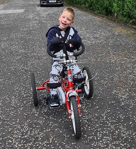 Ashton 'AJ' McPhee with his Jenx Multistander image