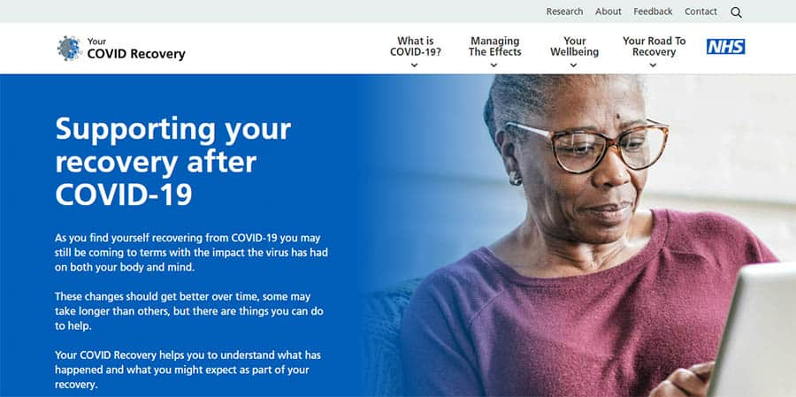 NHS Your Covid Recovery platform image
