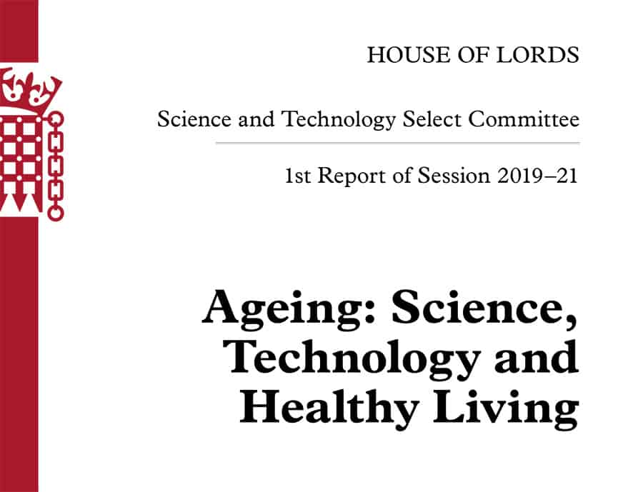 Ageing: Science, Technology and Healthy Living report