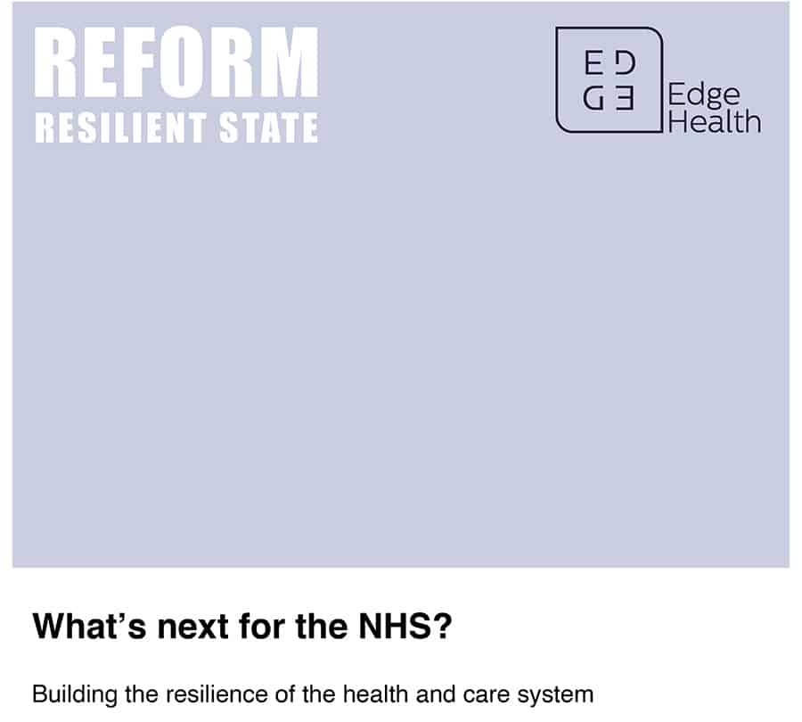 What's next for the NHS? Building the resilience of the health and care system report image