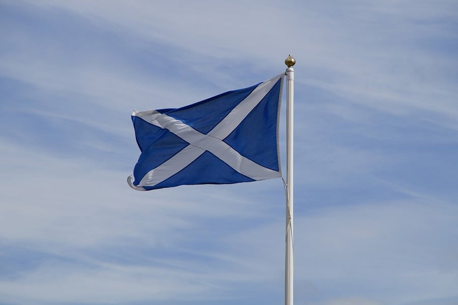 Scottish flag image
