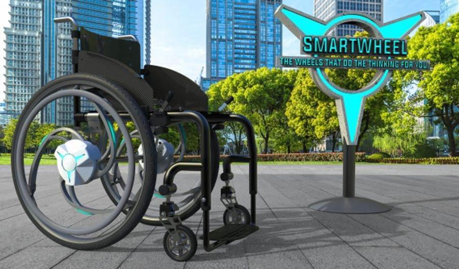 Smart wheelchair wheel image
