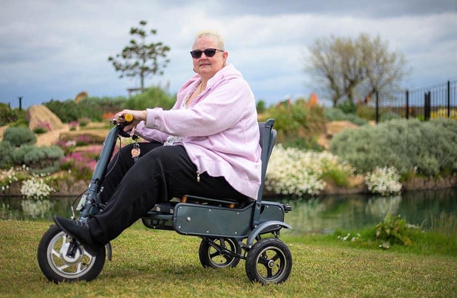 Debbie Taylor, 53, with her eFOLDi MK1.5 image