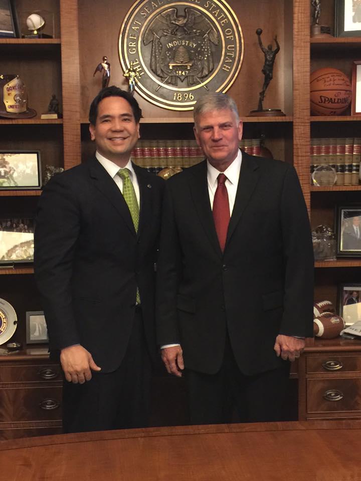AG with Rev Franklin Graham