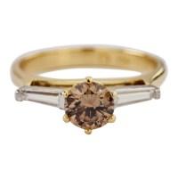 18k Yellow Gold Diamond Engagement Ring - Attos Antique ...