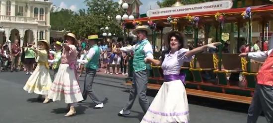 spring, trolley show, show, entertainment, magic kingdom, disney world