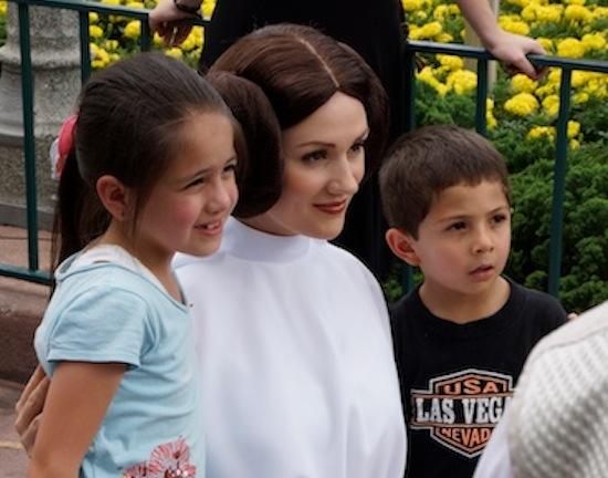 Princess Leia at Disney Star Wars Day