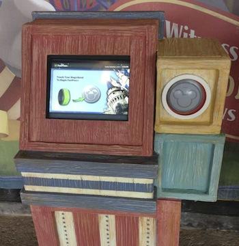 Disney FastPass+ kiosk in Storybook Circus