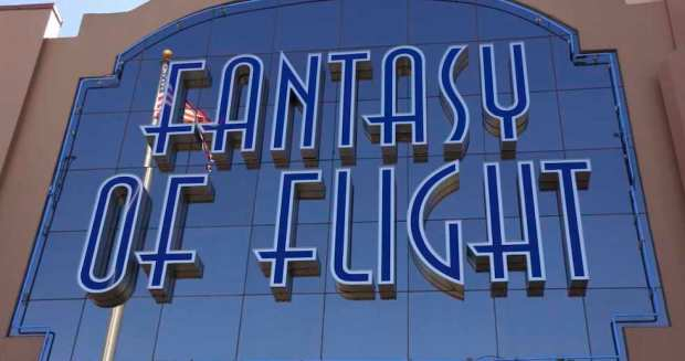 Fantasy of flight sign