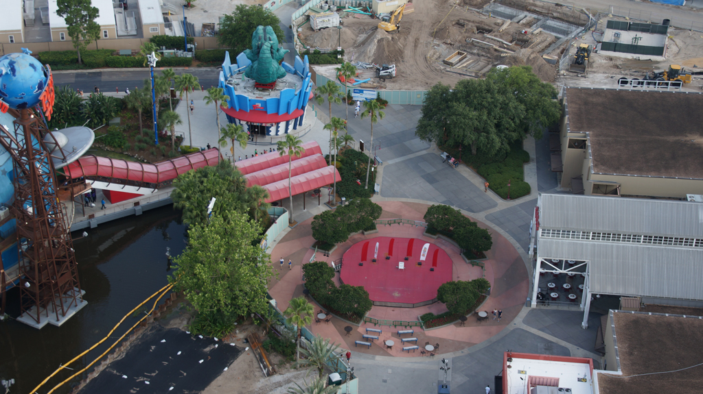 Disney Springs update, seen from above, in Characters in