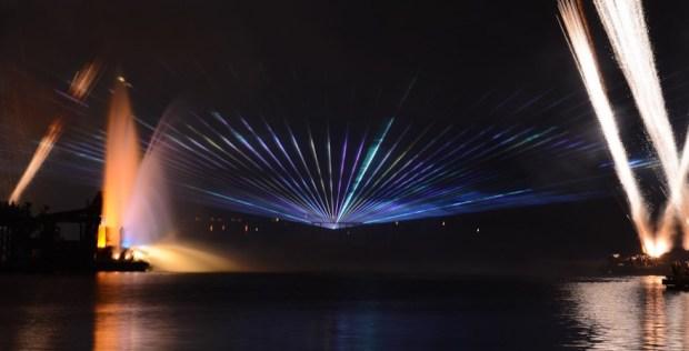 Illuminations lasers at epcot