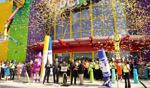 crayola experience florida mall orlando opening ribbon cutting