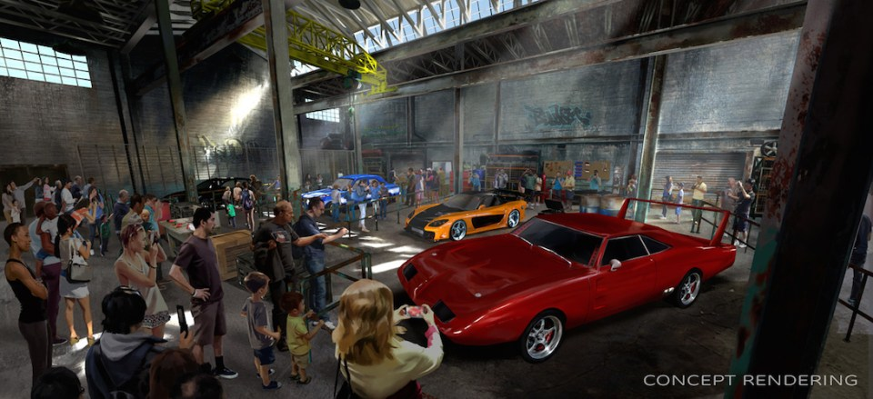 Fast and Furious rendering ride orlando