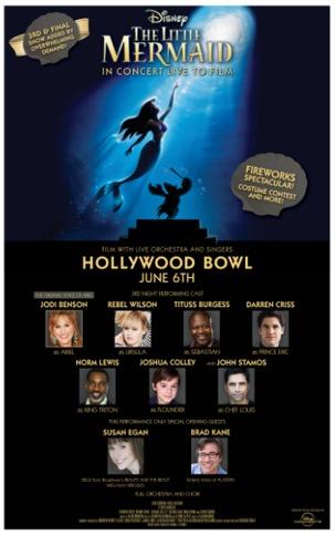 Jodi Benson Little Mermaid Hollywood Bowl
