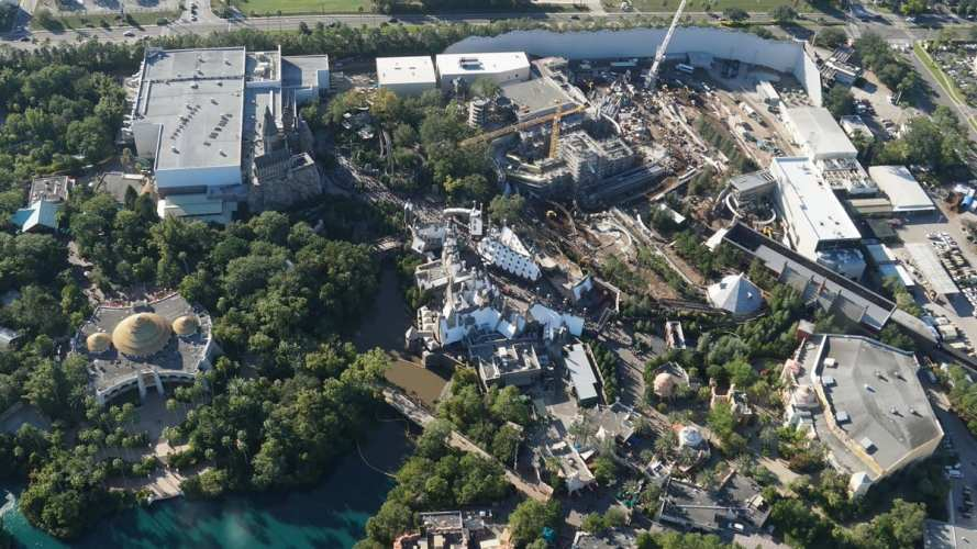 Overview of Hogwarts construction