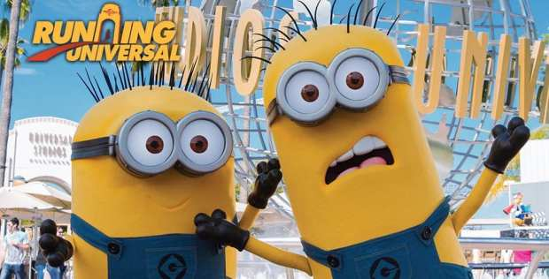 Running Universal Studios Hollywood 5k race with the Minions.