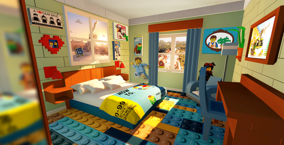 New Lego Movie Worldthemed rooms now available at