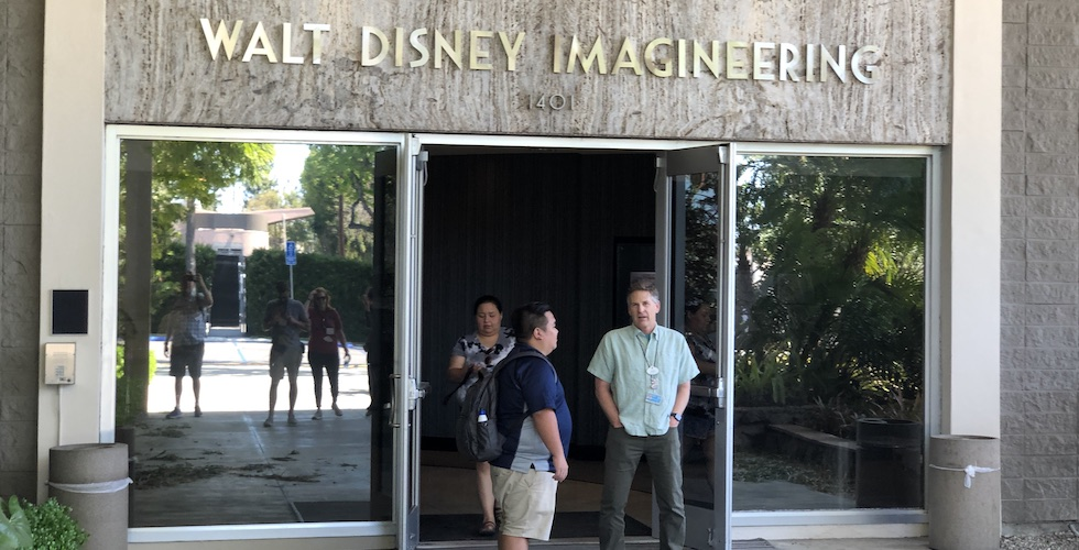 The front entrance of Imagineering in Glendale, California.