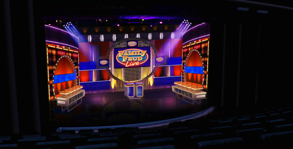 Family Feud Live set