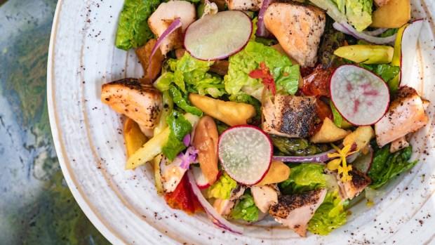 lemon-sumac salmon salad
