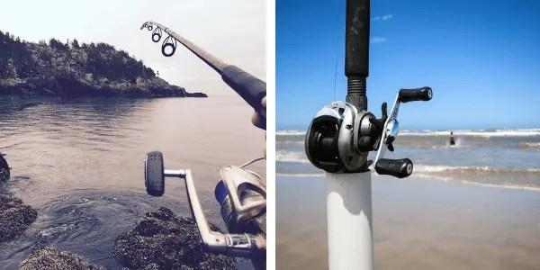 spinning vs baitcaster handle position