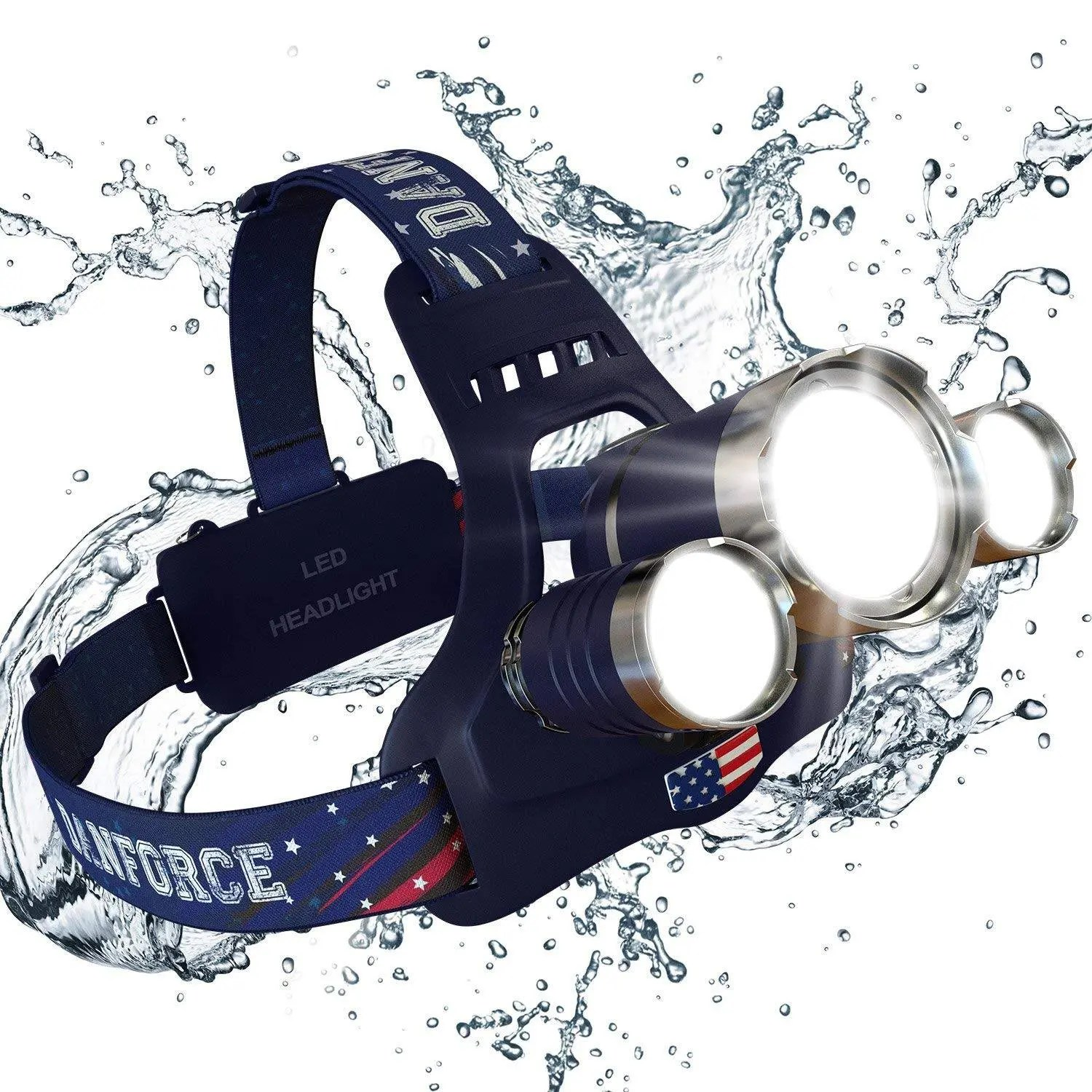 DanForce Rechargeable Headlamp