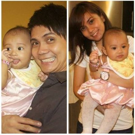 Vhong Navarro & Tanya Winona Bautista carrying a baby (not confirmed if this is their baby)