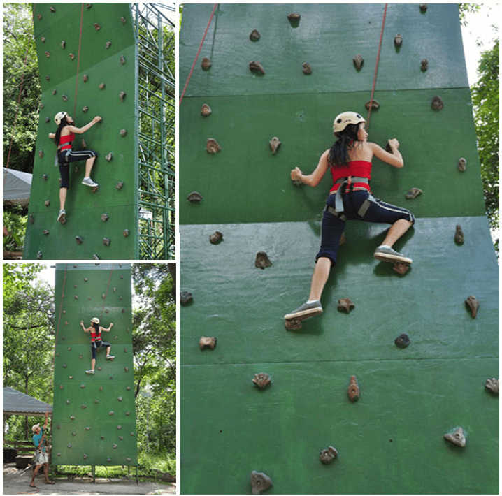 Dare to climb at approximately 8 meters high and 3.5 meters wide.