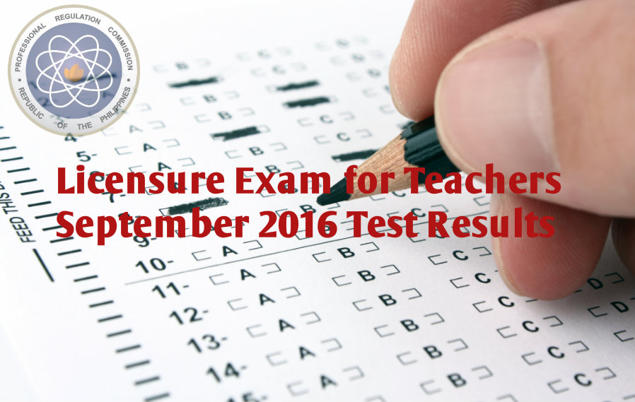 September 2016 Teachers Board Exam Results
