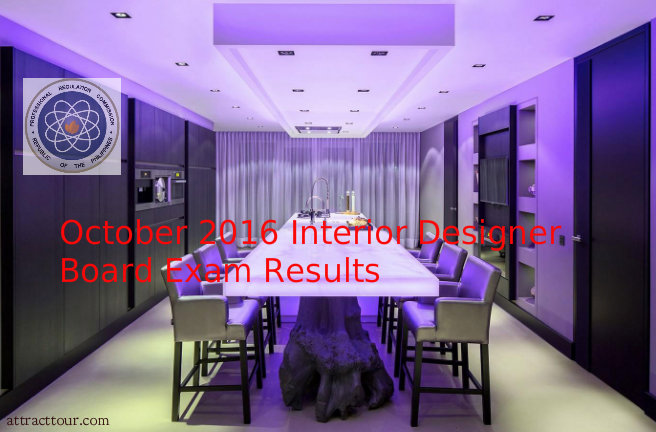 October 2016 Interior Design Board Exam Results