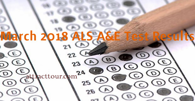 FULL RESULTS: March 2018 ALS A&E Test Result (Elementary Level)