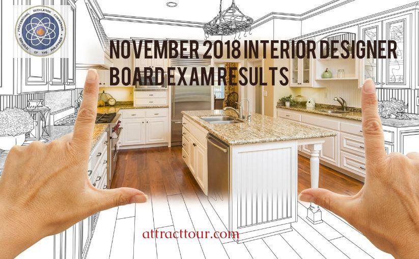 Full List November 2018 Interior Designer Board Exam Results Attracttour