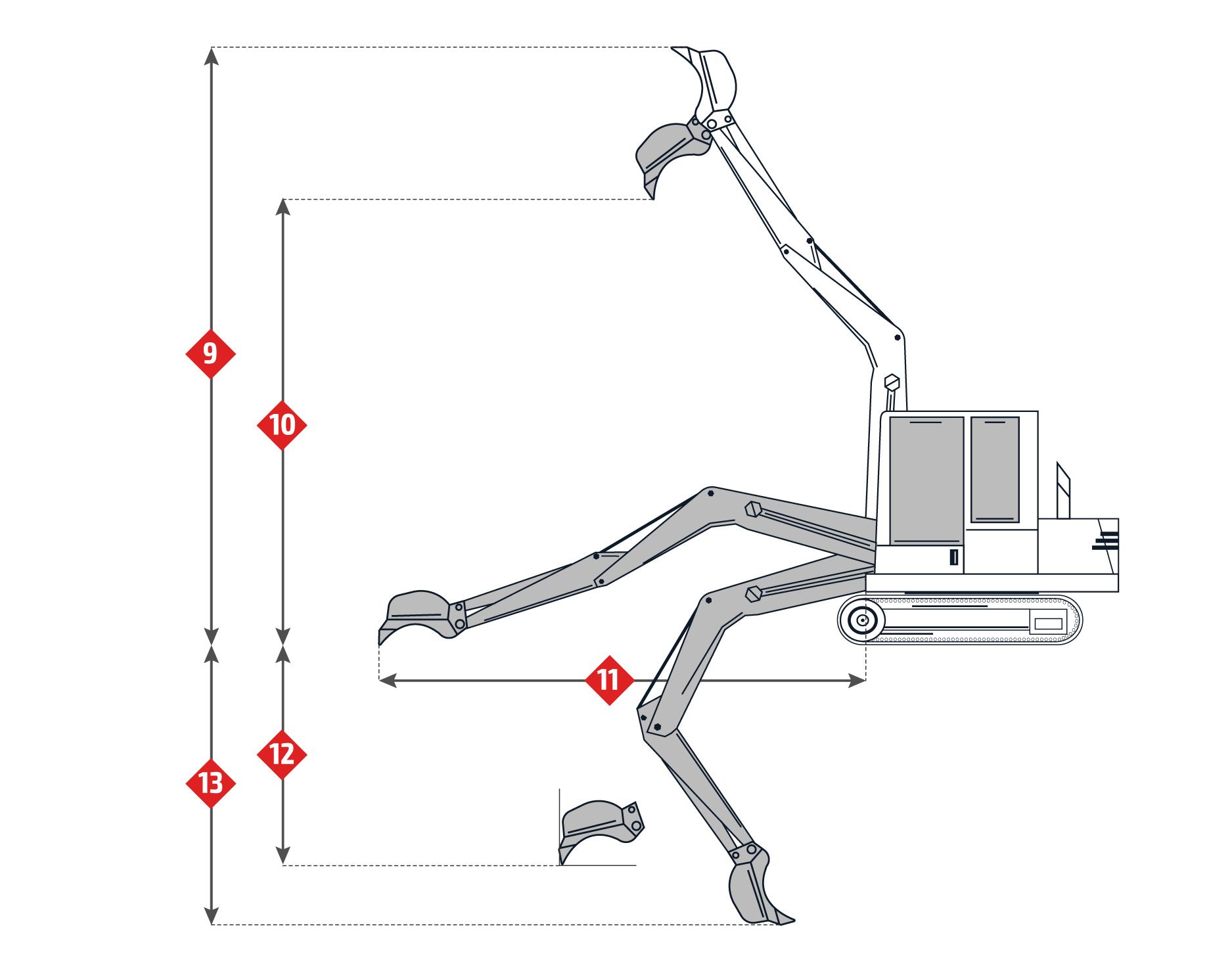 Scheda Tecnica: Fiat-Hitachi EX165. Escavatore Idraulico.