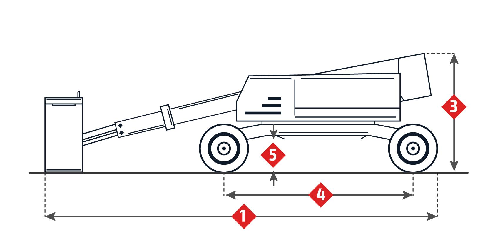 Scheda Tecnica: Haulotte HA260PX. Montacarichi A Gomito.