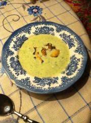 Läcker soppa med blåmusslor