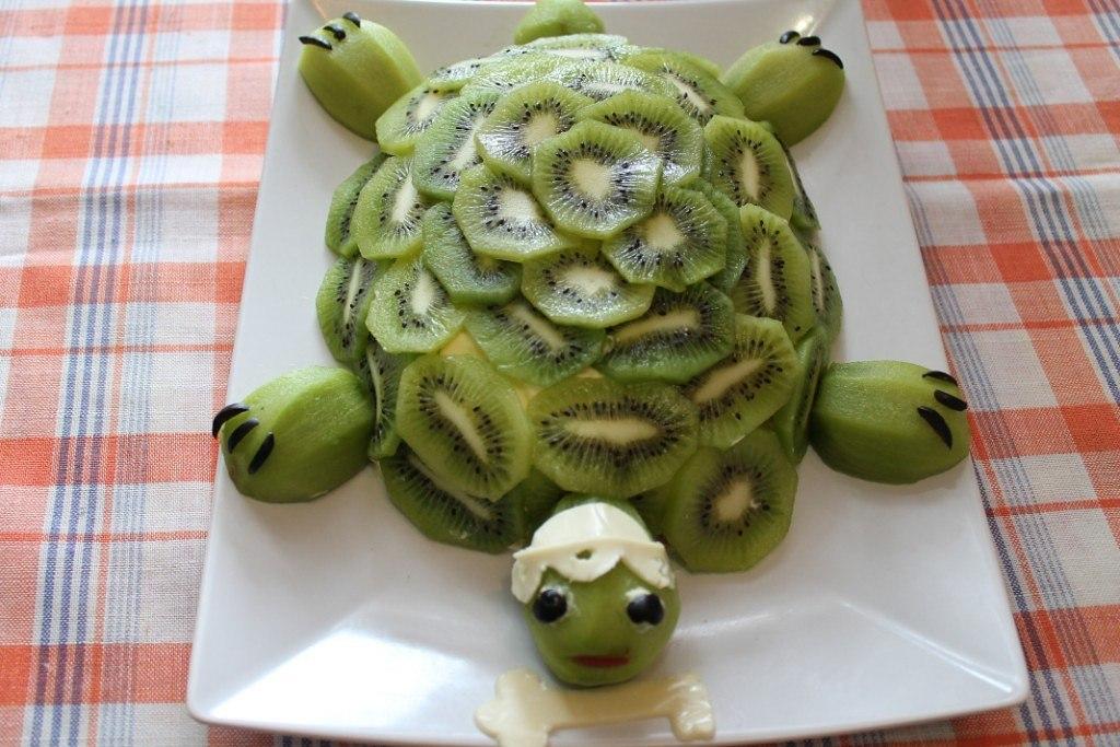 свой рабочий торт изумрудная черепаха с киви фото нестандартное решение