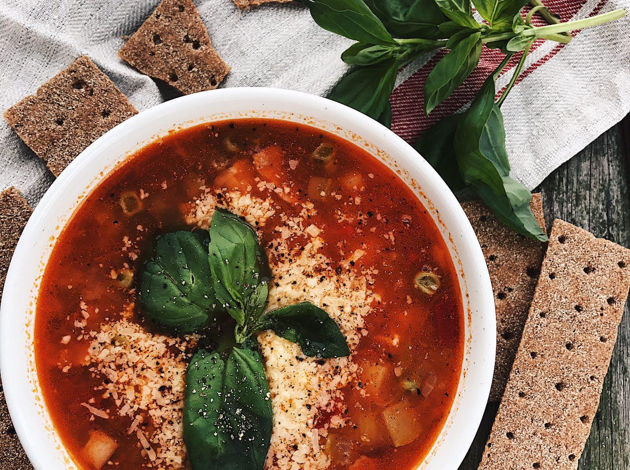 Итальянский овощной суп минестроне рецепт с фото