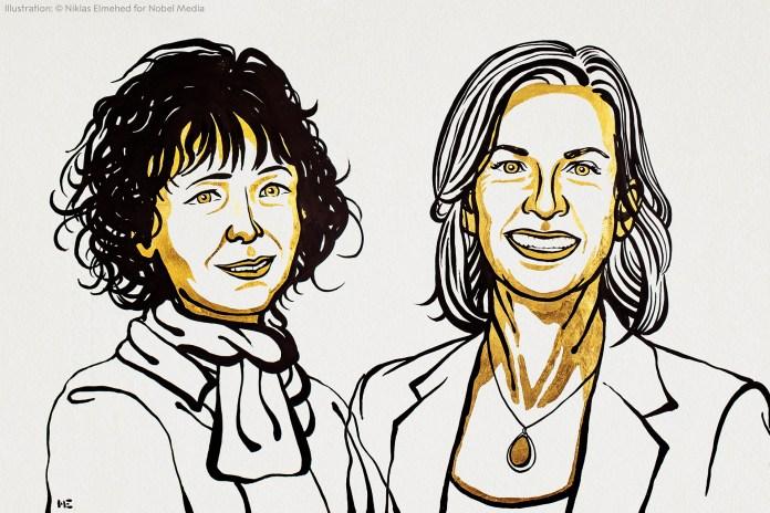 रसायन विज्ञान में नोबेल पुरस्कार इमैनुएल चार्पियरियर, जेनिफर ए डौडना को दिया गया