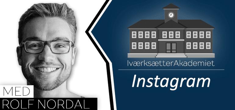 Instagram er et godt match med iværksætters passion  og personlige historie