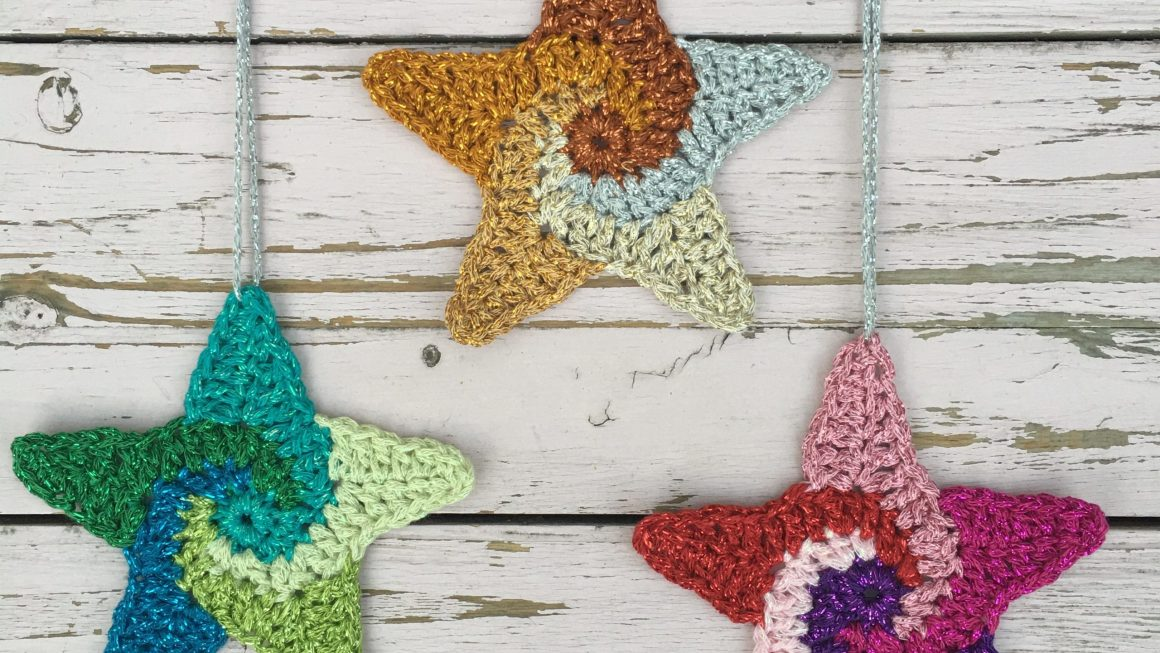 Swirly Stars Free Crochet pattern
