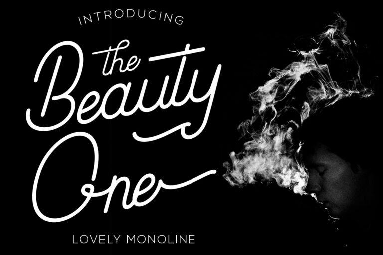 Beauty One - Monoline Script Font