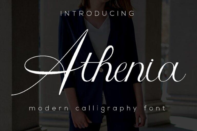 Athenia - Calligraphy Font