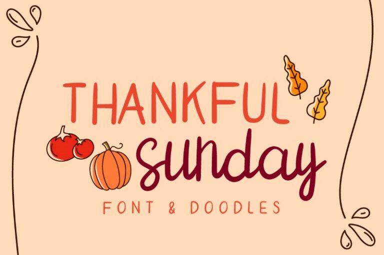 Thankful Sunday - Handwritten Font