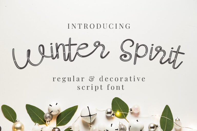 Preview image of Winter Spirit – Christmas Font